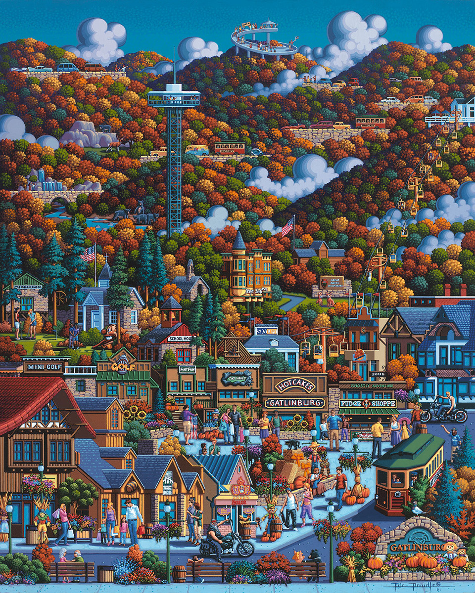 Smoky Mountain National Park Mountains Jigsaw Puzzle