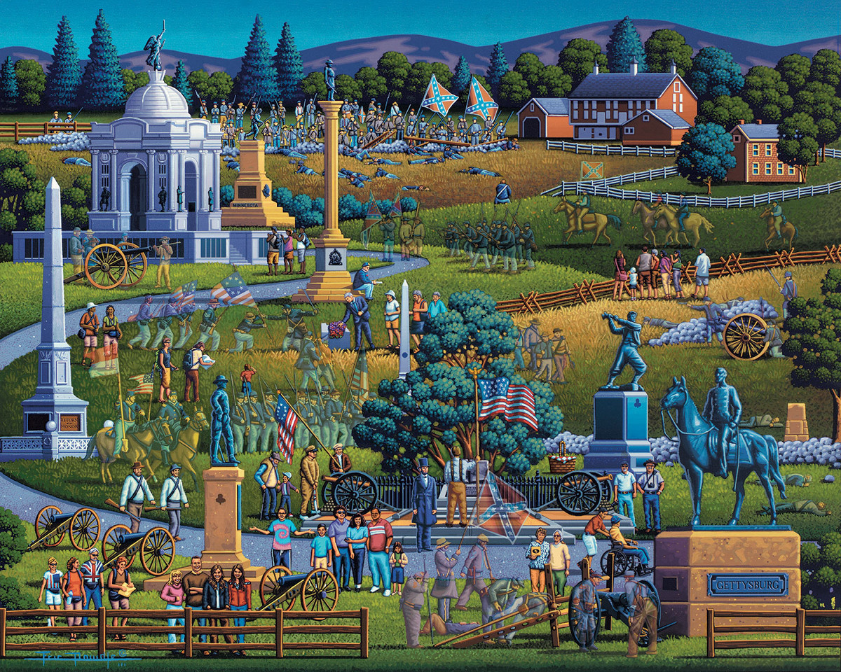 Gettysburg National Military Park Landmarks / Monuments Jigsaw Puzzle