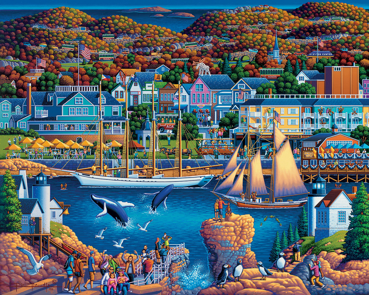 Acadia National Park - Scratch and Dent Boats Jigsaw Puzzle
