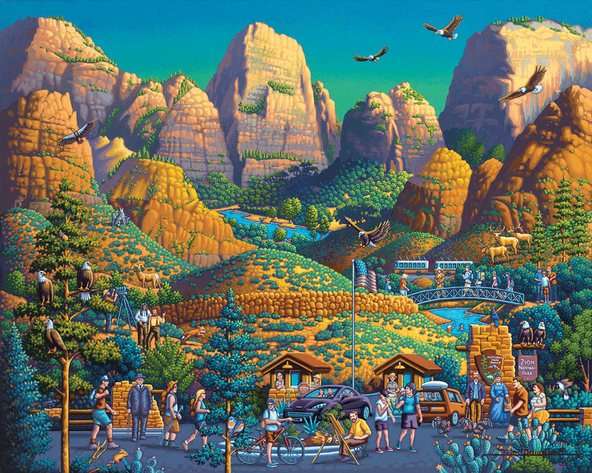 Zion National Park Eagles Jigsaw Puzzle