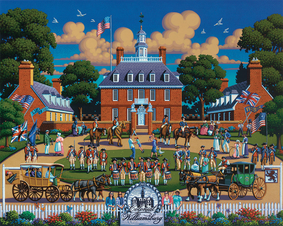 Williamsburg National Park Landmarks / Monuments Jigsaw Puzzle