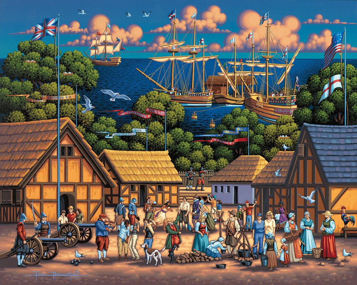 Jamestown National Historic Park Patriotic Jigsaw Puzzle