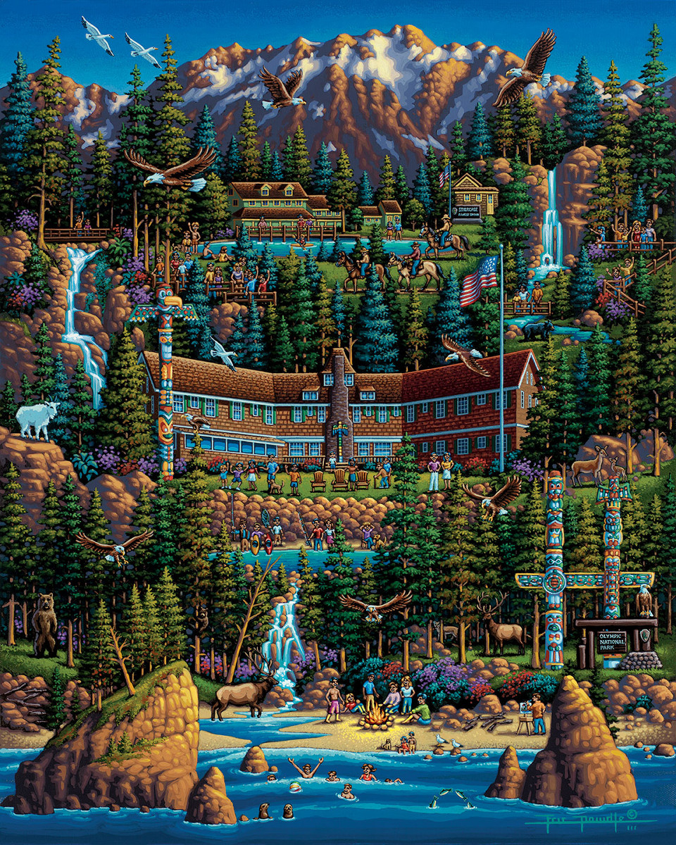 Olympic National Park Mountains Jigsaw Puzzle
