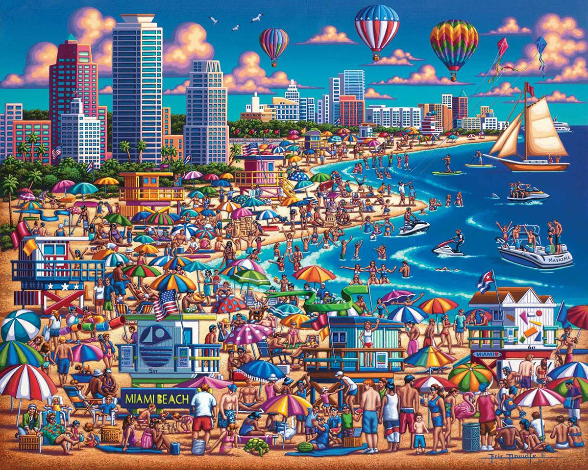 Miami Beach Beach Jigsaw Puzzle