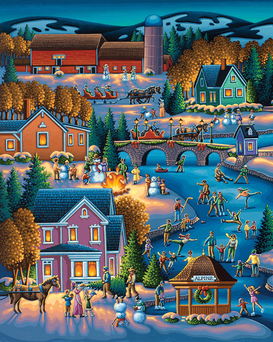 Over the River Winter Jigsaw Puzzle