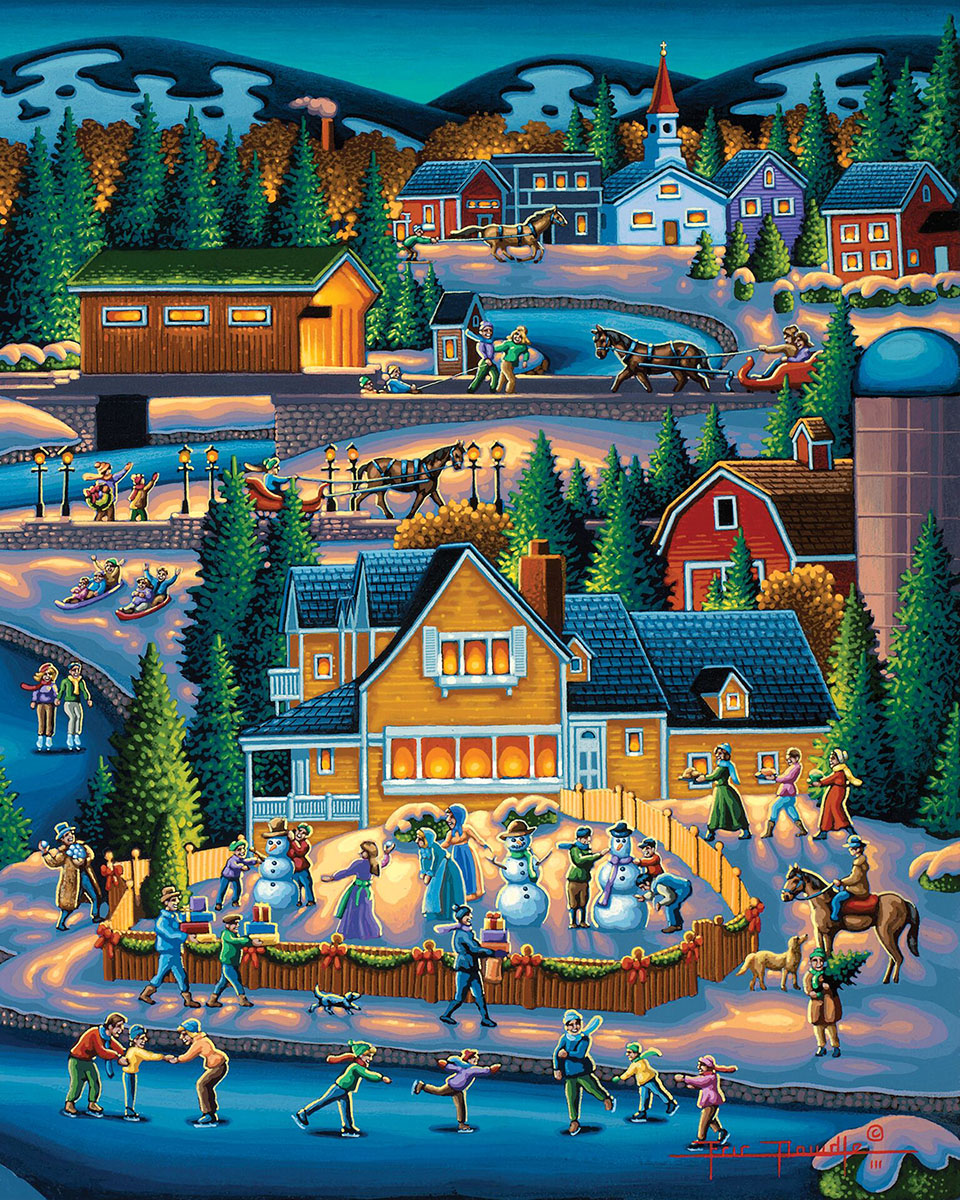 Through the Woods Winter Jigsaw Puzzle