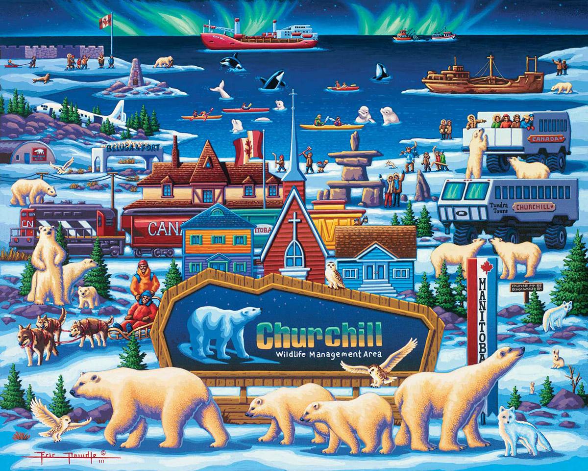 Churchill Polar Bears Bears Jigsaw Puzzle