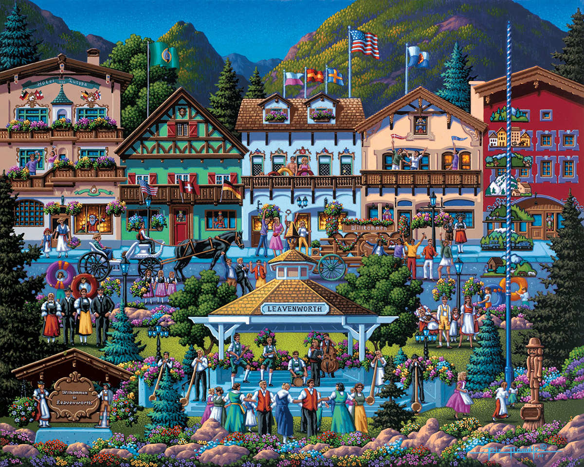 Leavenworth Americana & Folk Art Jigsaw Puzzle