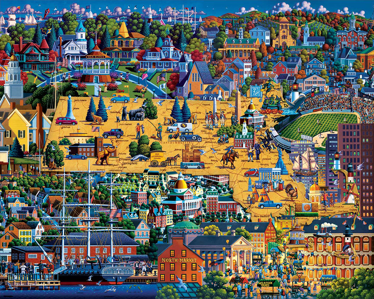 Best of Massachusetts Americana & Folk Art Jigsaw Puzzle