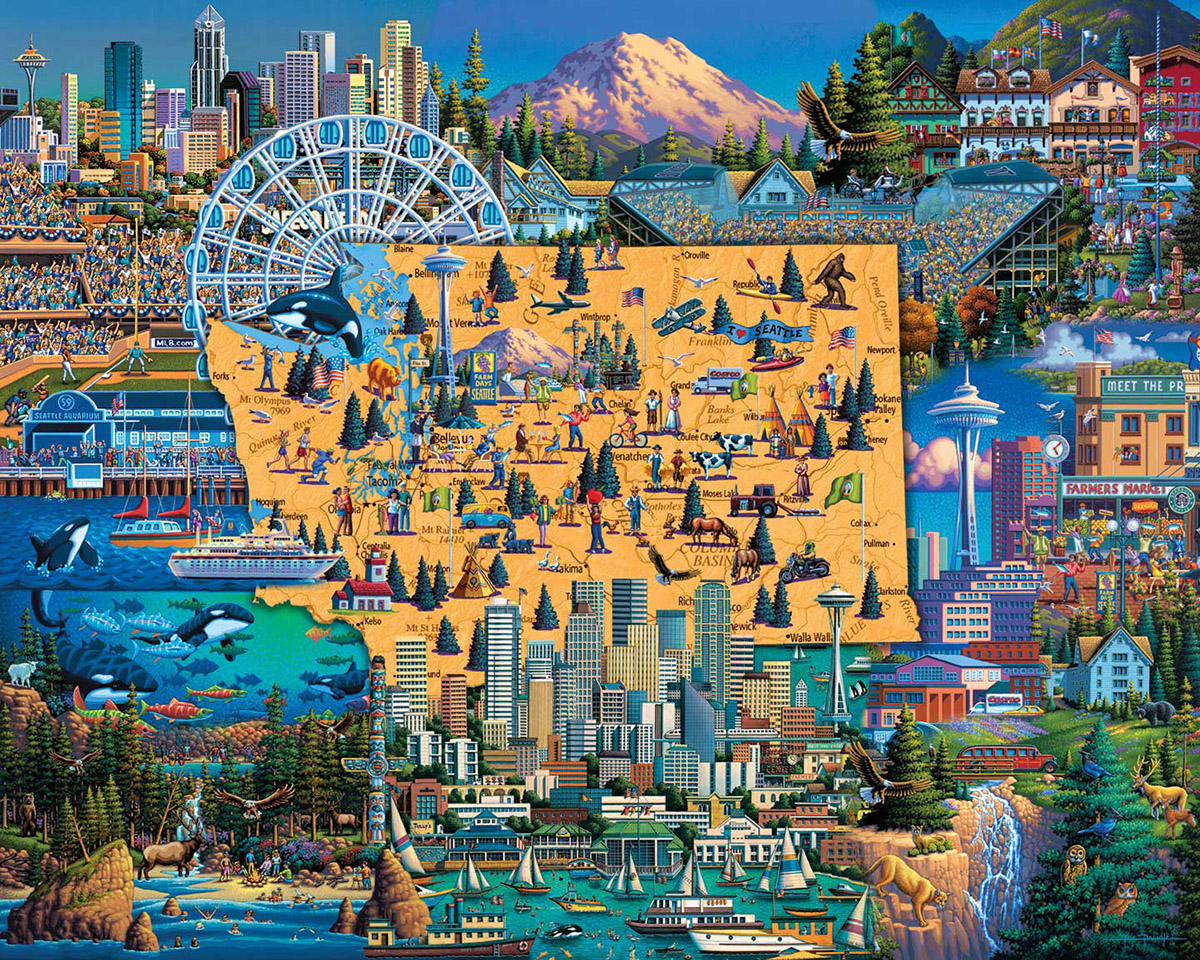Best of Seattle Father's Day Jigsaw Puzzle