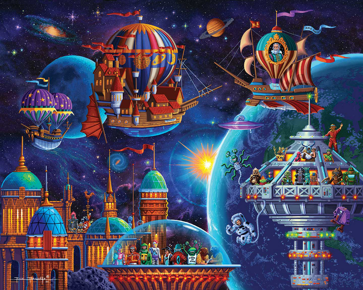 Space Adventure Space Jigsaw Puzzle