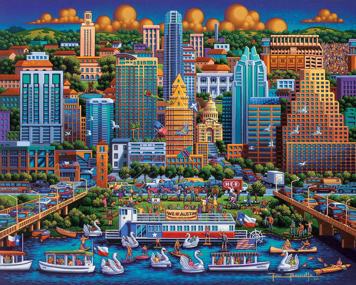 Austin Cities Jigsaw Puzzle