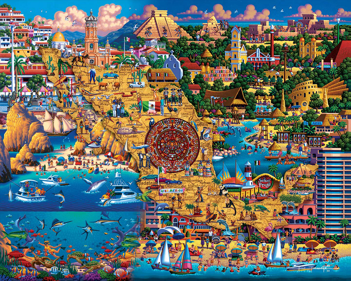 Best of Mexico Maps / Geography Jigsaw Puzzle