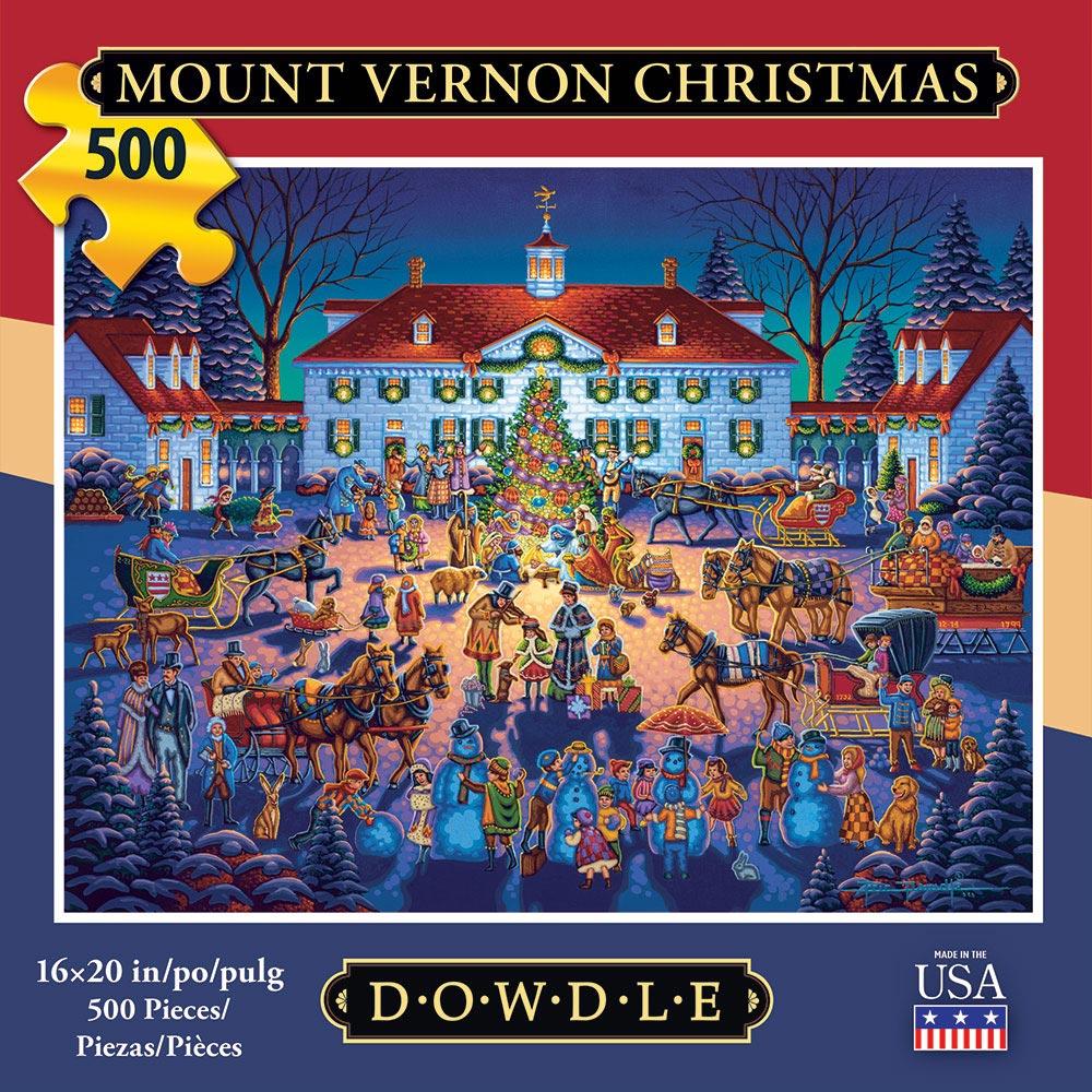 Mount Vernon Christmas Christmas Jigsaw Puzzle