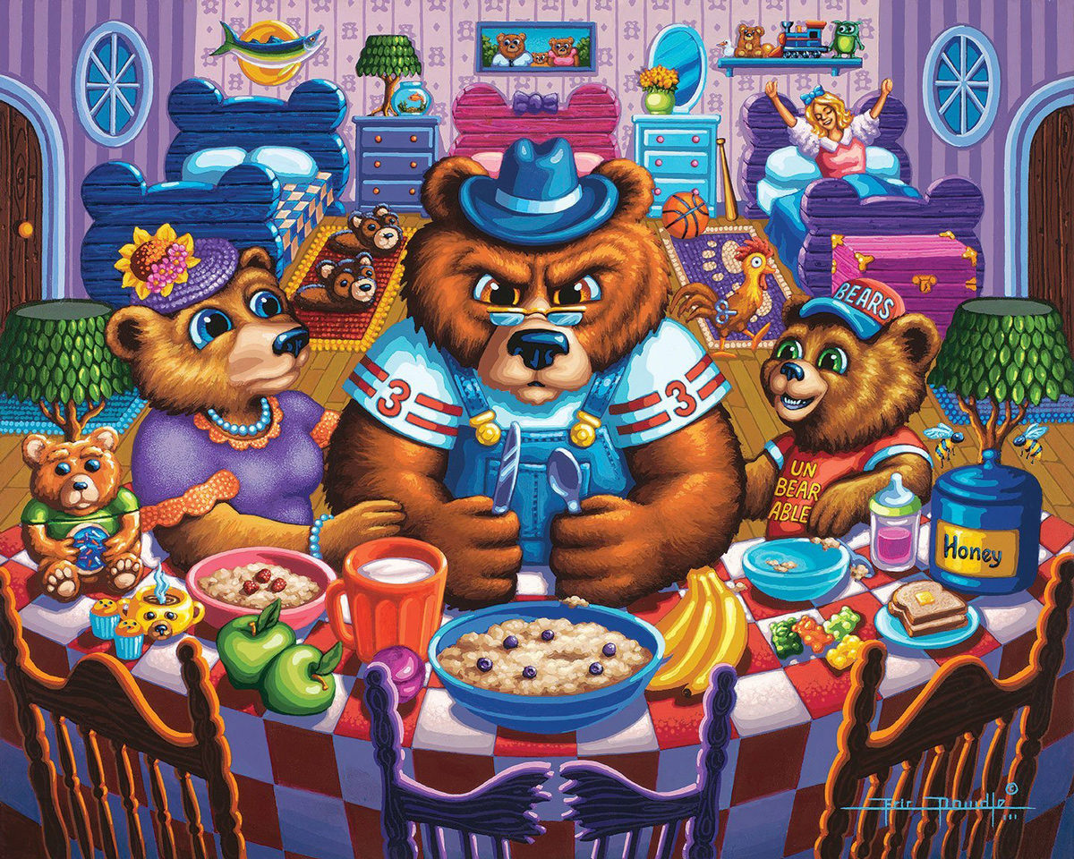 The Three Bears 500 Piece Fantasy Jigsaw Puzzle