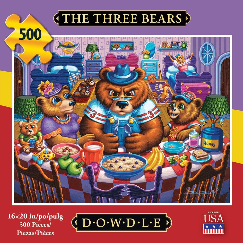 The Three Bears Americana & Folk Art Jigsaw Puzzle