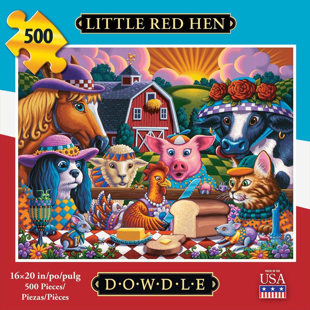 Little Red Hen Americana & Folk Art Jigsaw Puzzle