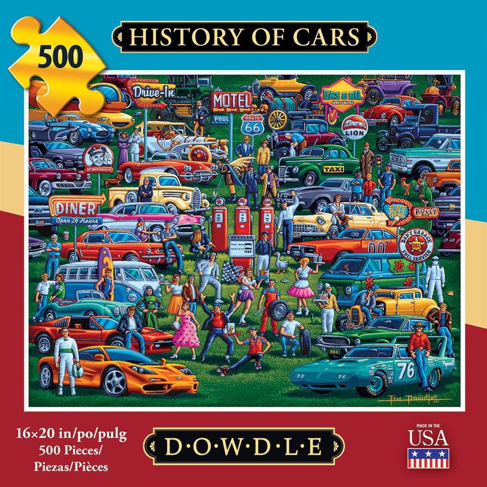 History of Cars Americana & Folk Art Jigsaw Puzzle