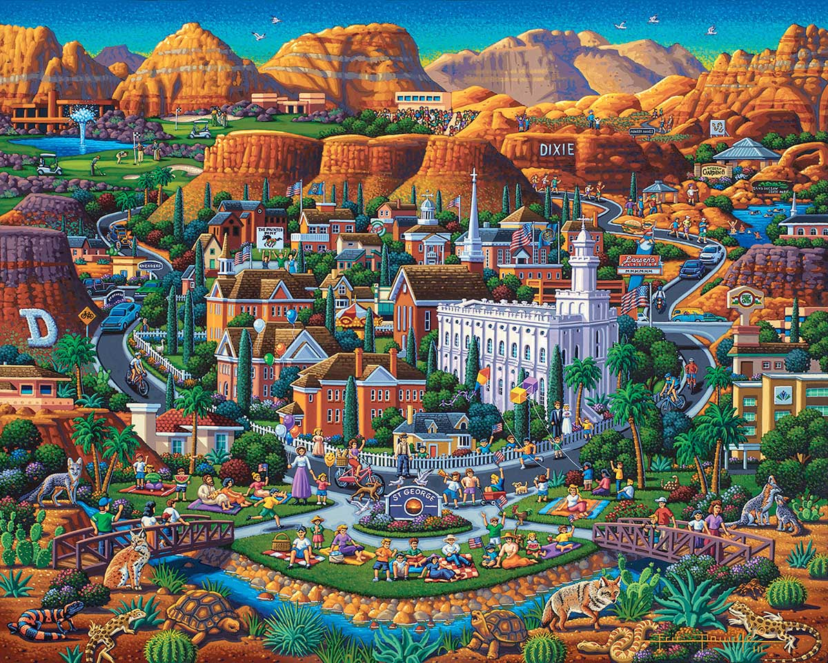 Utah's Dixie Cities Jigsaw Puzzle