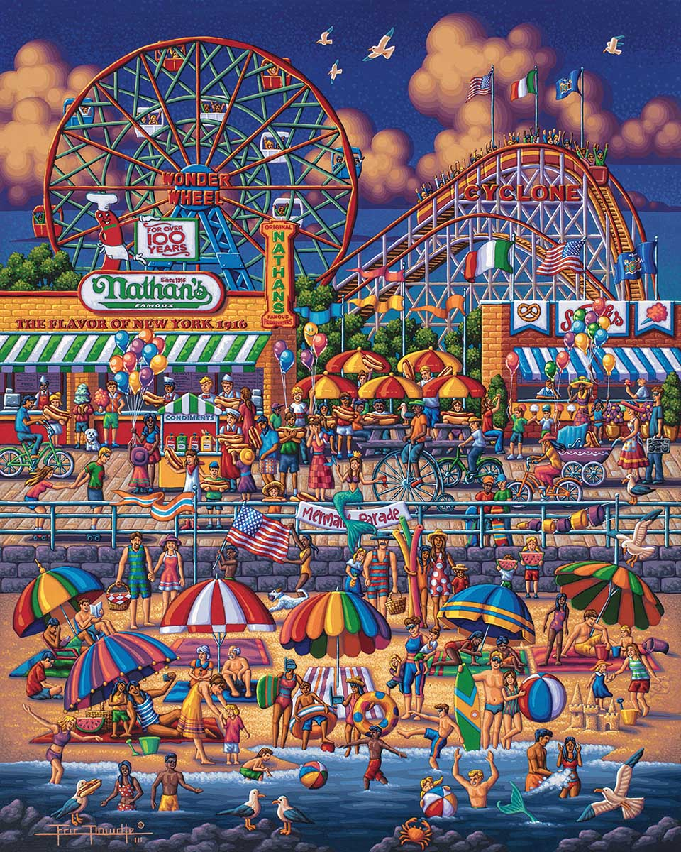 Coney Island Beach Jigsaw Puzzle