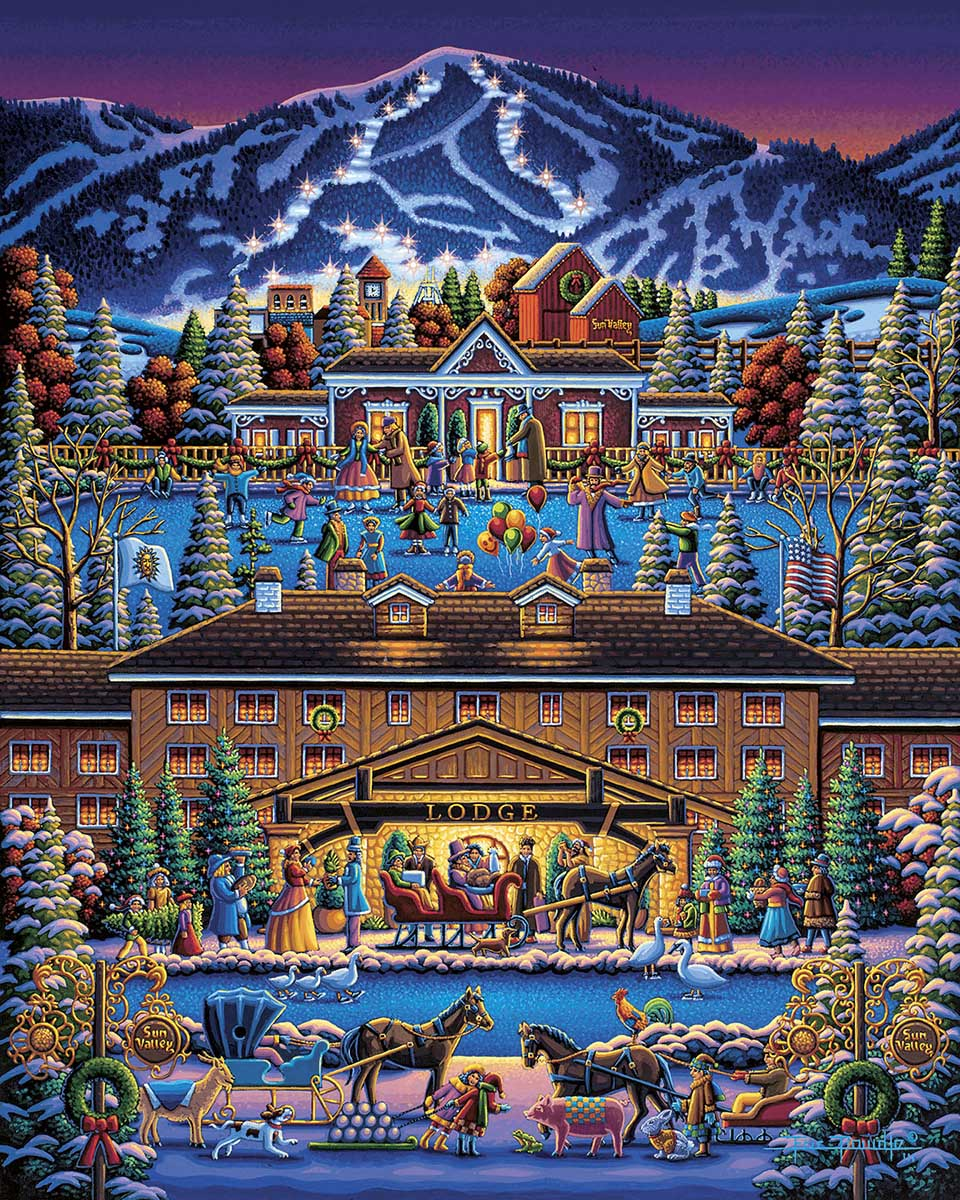 Sun Valley Holiday Travel Jigsaw Puzzle