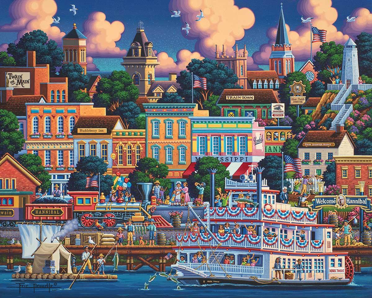 Mark Twain's Hannibal Boats Jigsaw Puzzle