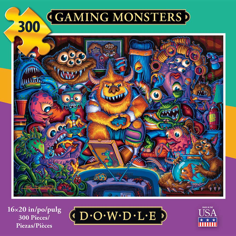 Gaming Monsters Cartoons Jigsaw Puzzle