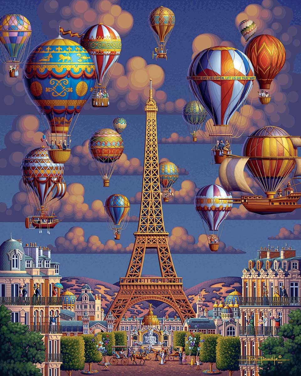 Balloons Over Paris Balloons Jigsaw Puzzle