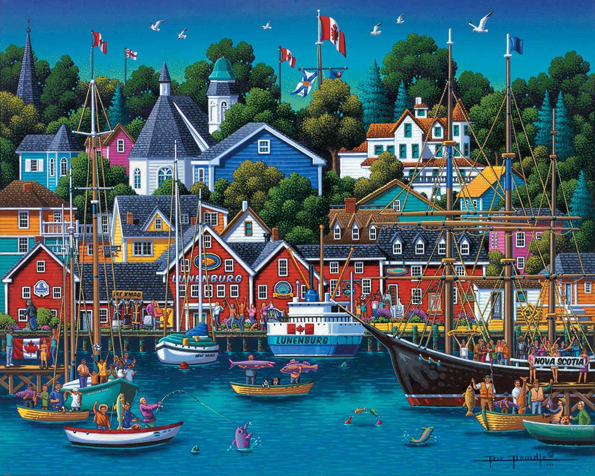 Lunenberg Americana & Folk Art Jigsaw Puzzle