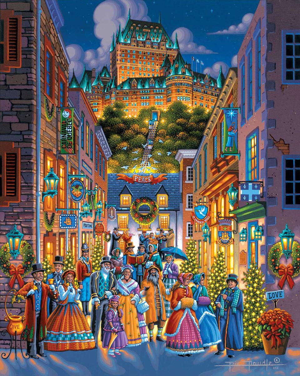 Quebec Holiday Americana & Folk Art Jigsaw Puzzle