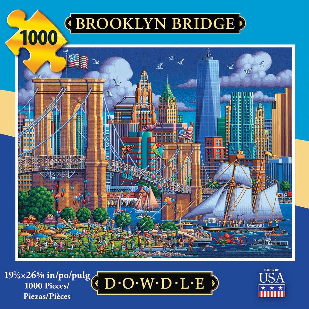 Brooklyn Bridge Americana & Folk Art Jigsaw Puzzle