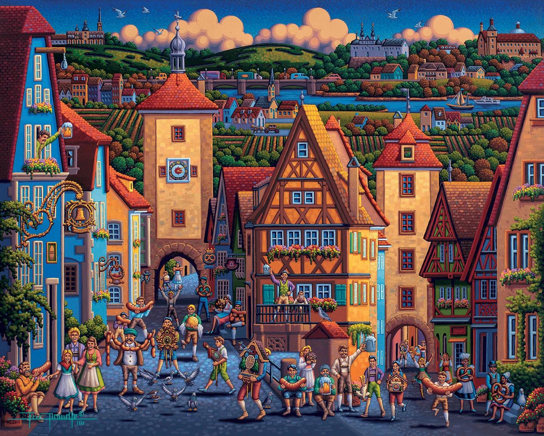 Rothenburg ob der Tauber Germany Jigsaw Puzzle