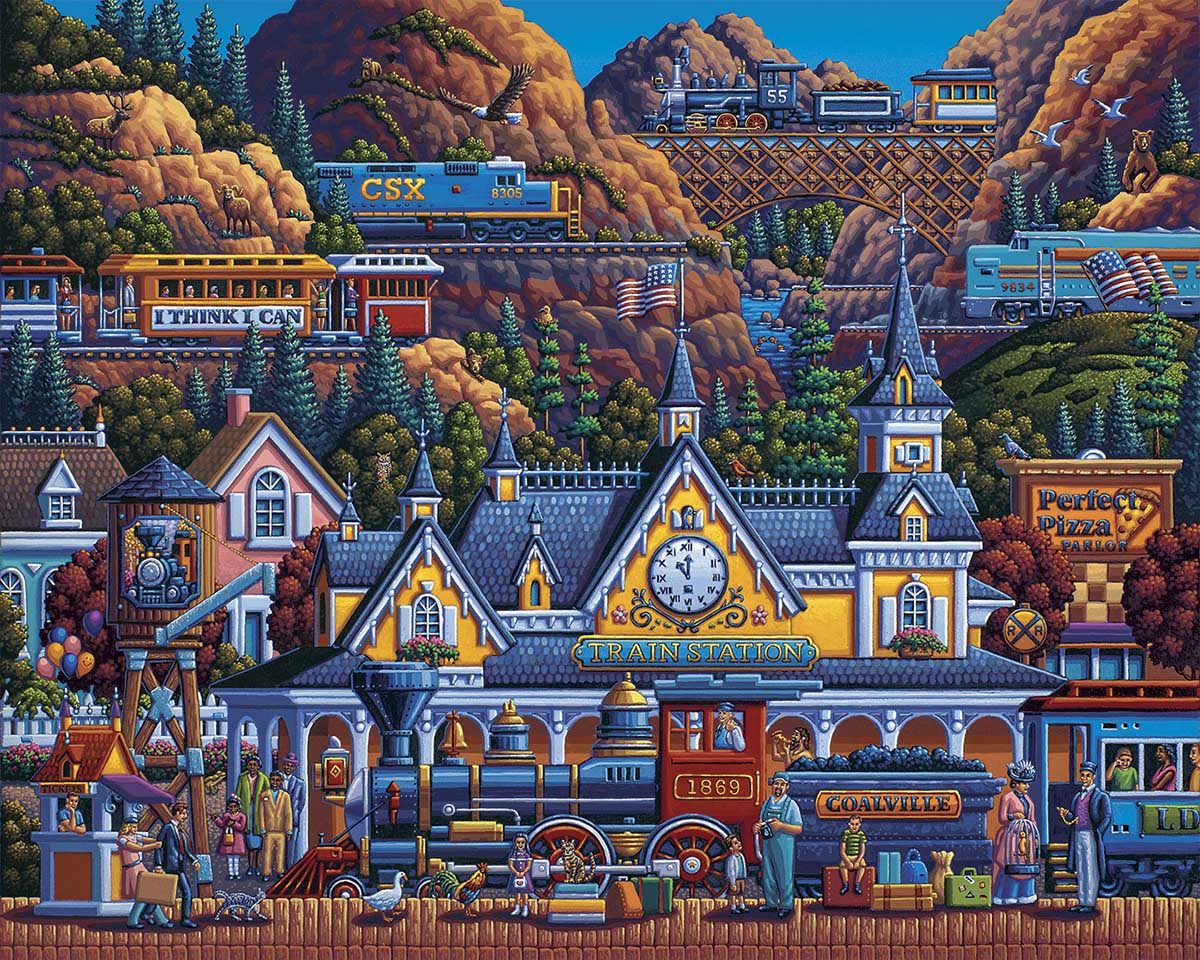 Train Station Trains Jigsaw Puzzle