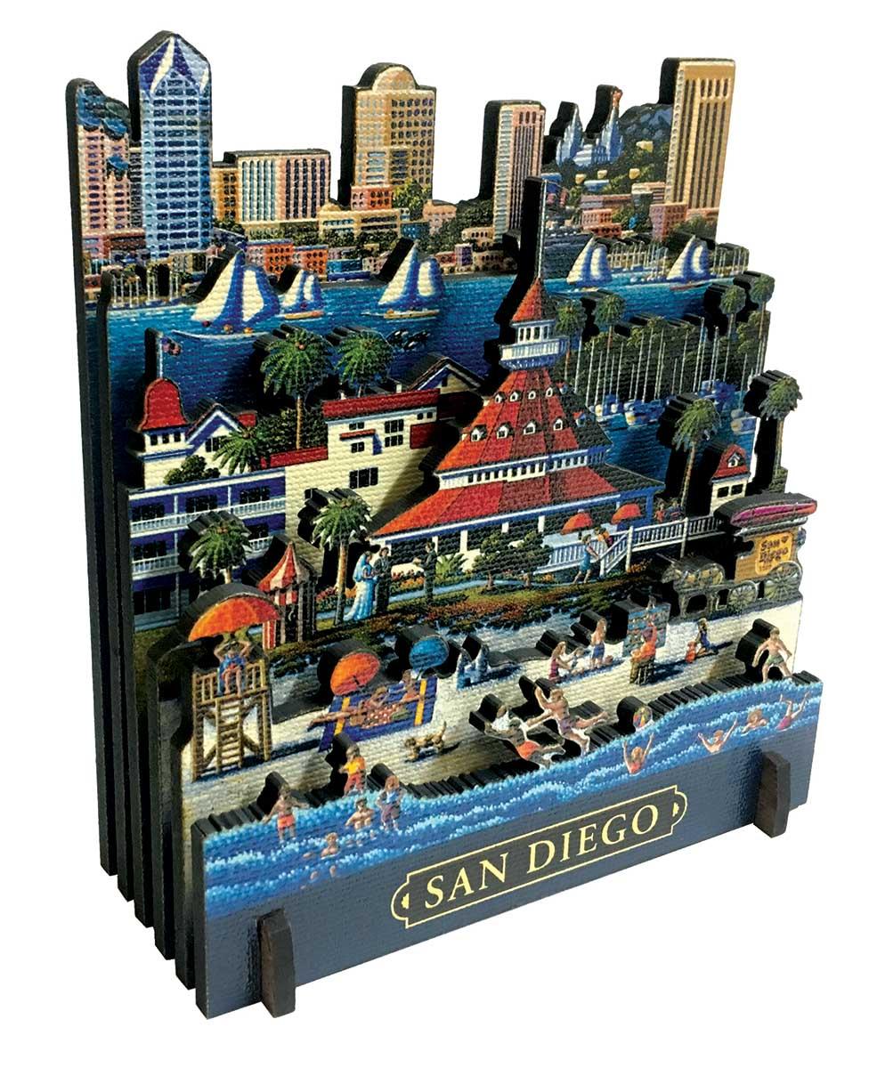 San Diego Beach 3D Puzzle