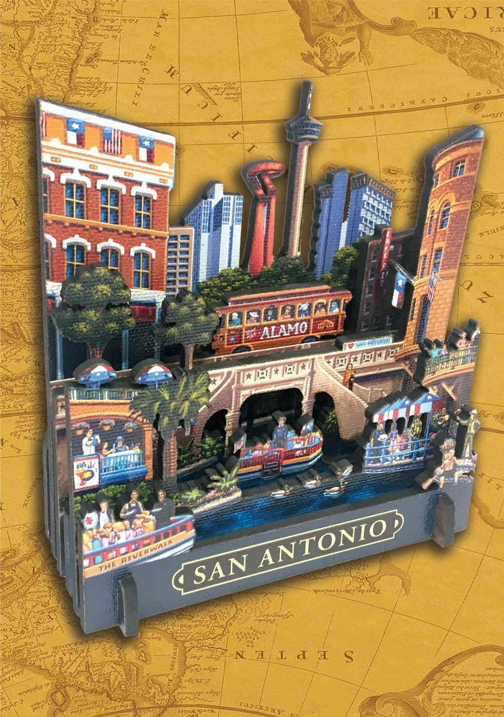 San Antonio Cities 3D Puzzle