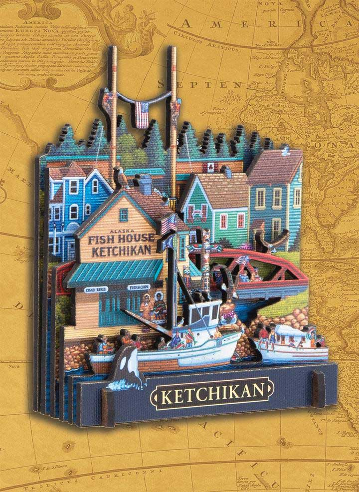 Ketchikan Alaska 3D Puzzle