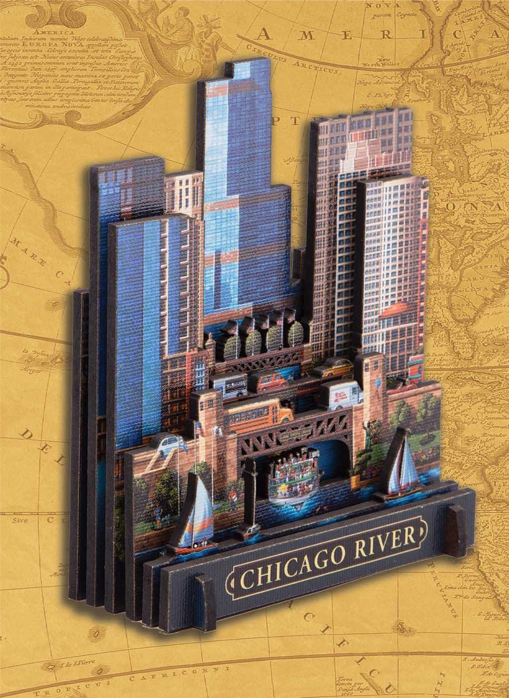 Chicago River Chicago 3D Puzzle