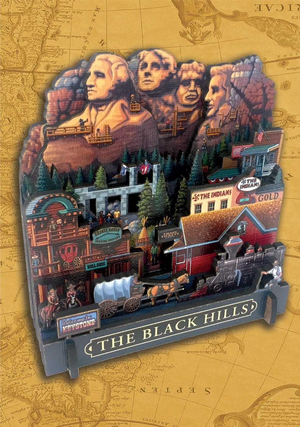The Black Hills Landmarks / Monuments 3D Puzzle