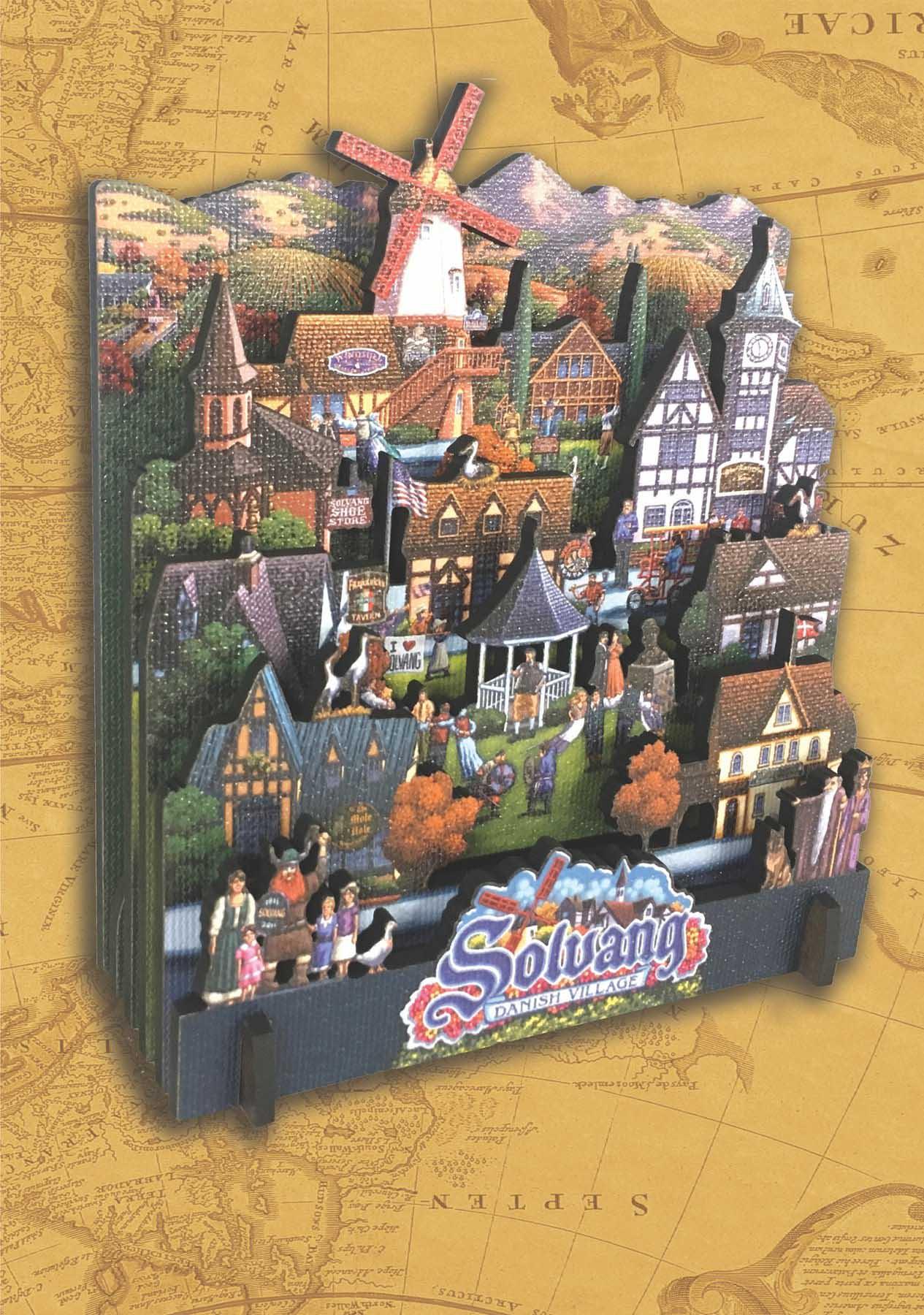 Solvang Danish Village Cities 3D Puzzle