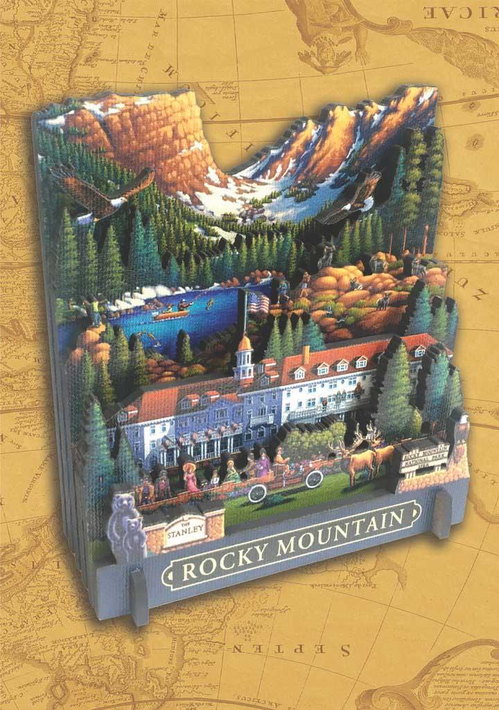 Rocky Mountain National Park Mountains 3D Puzzle