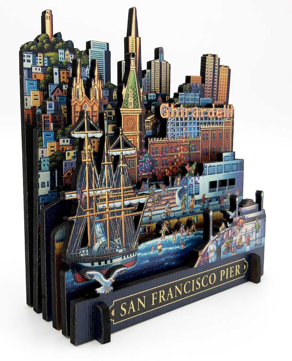 San Francisco Pier Summer 3D Puzzle