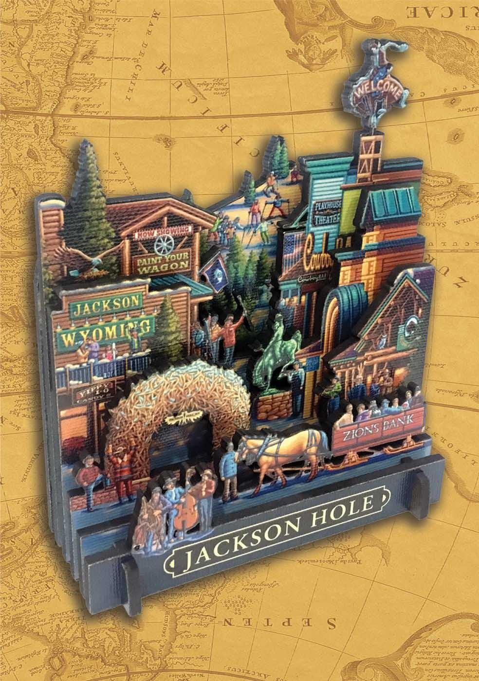 Jackson Hole Americana & Folk Art 3D Puzzle
