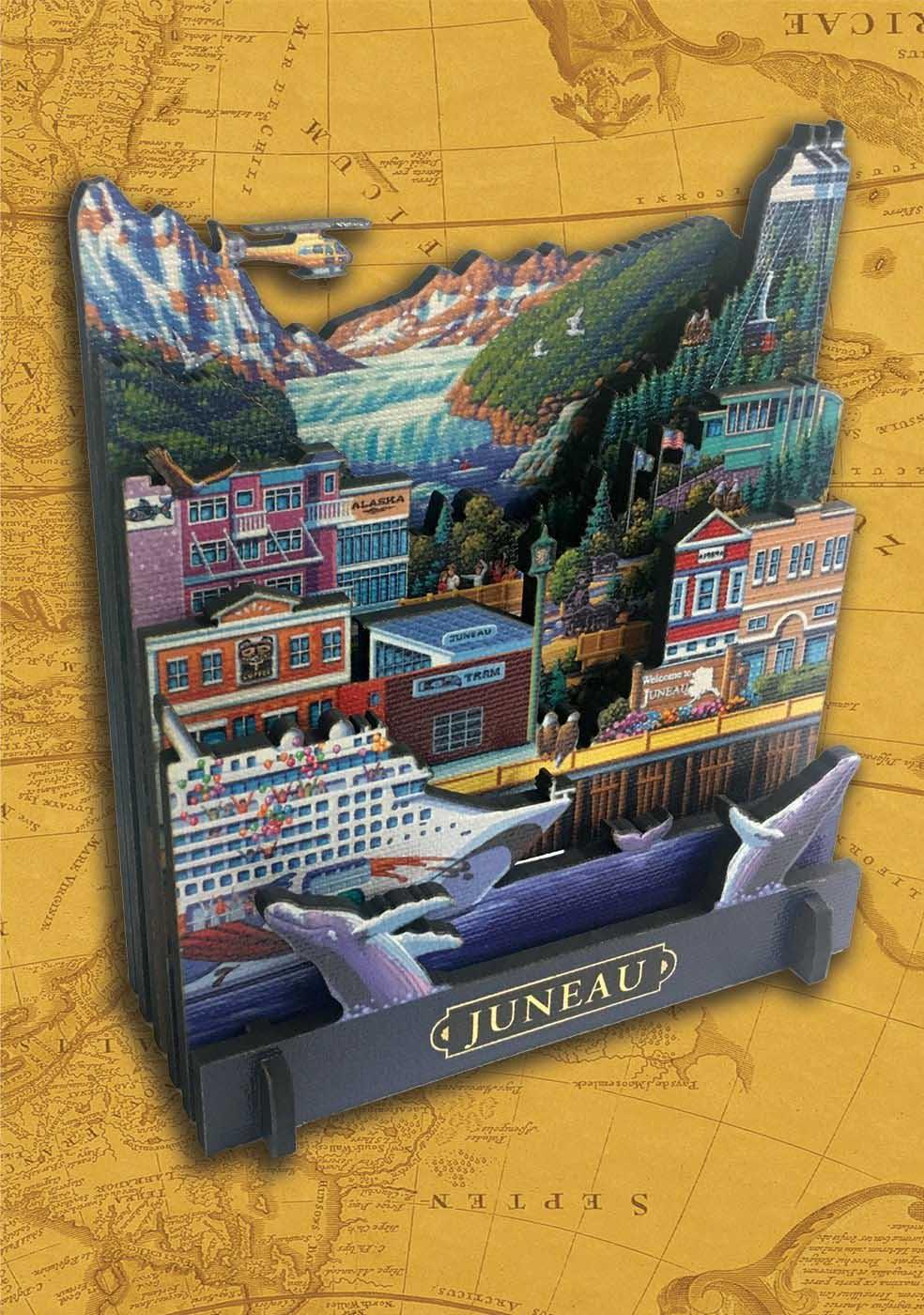 Juneau Alaska 3D Puzzle