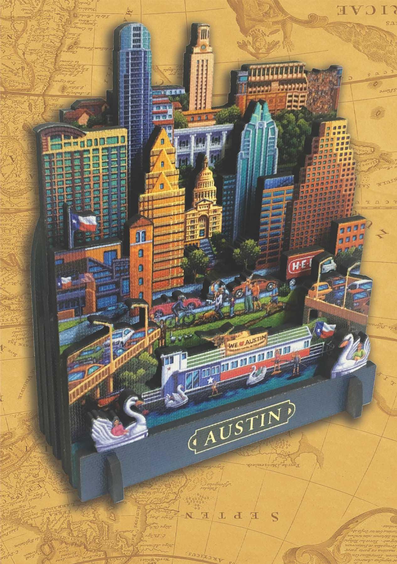 Austin Cities 3D Puzzle