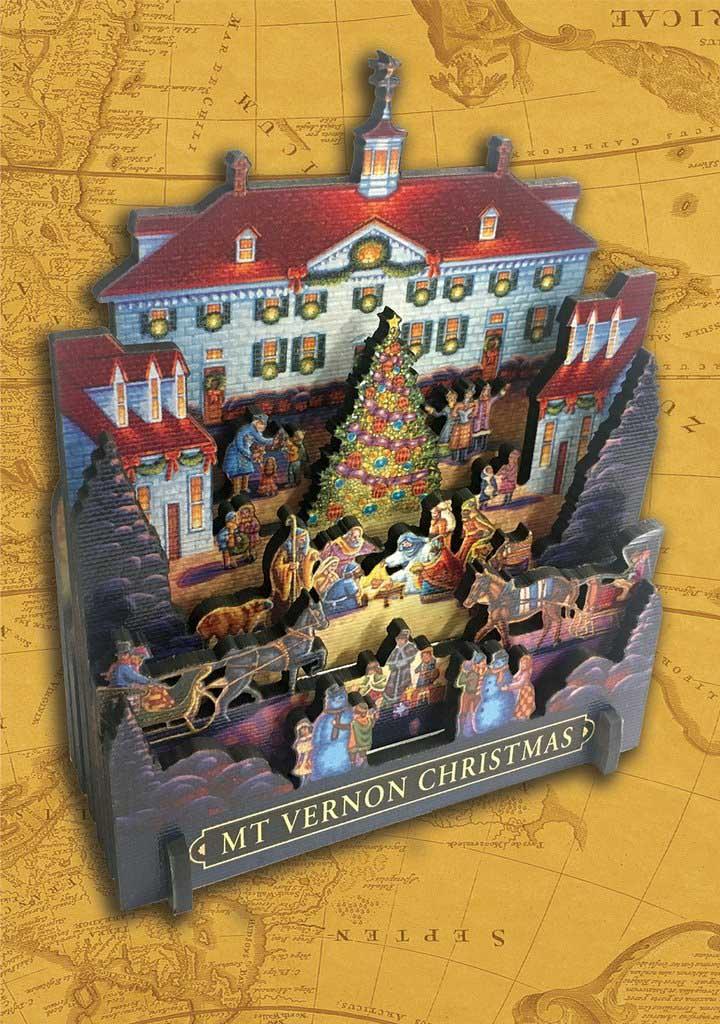 Mount Vernon Christmas Christmas 3D Puzzle