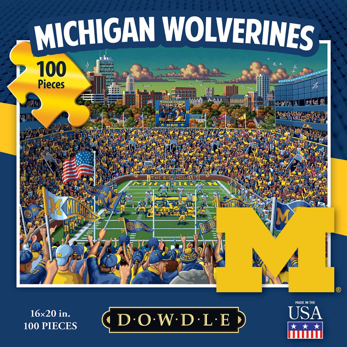 Michigan Wolverines Father's Day Jigsaw Puzzle