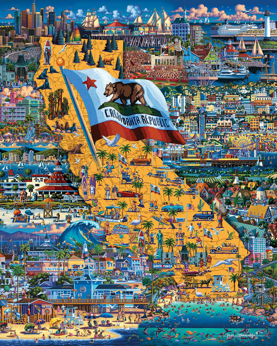 Best of Southern California Americana & Folk Art Jigsaw Puzzle