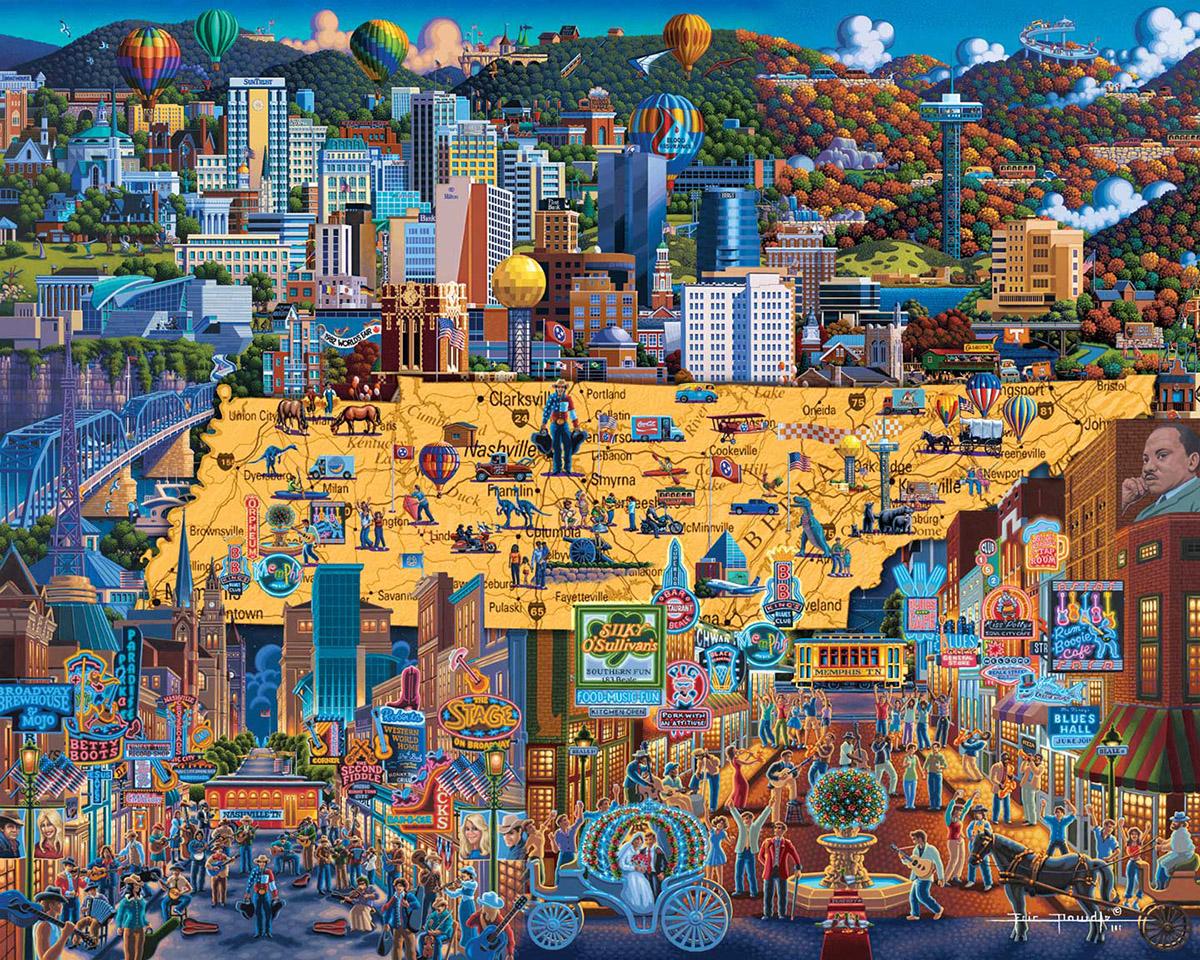 Best of Tennessee Americana & Folk Art Jigsaw Puzzle