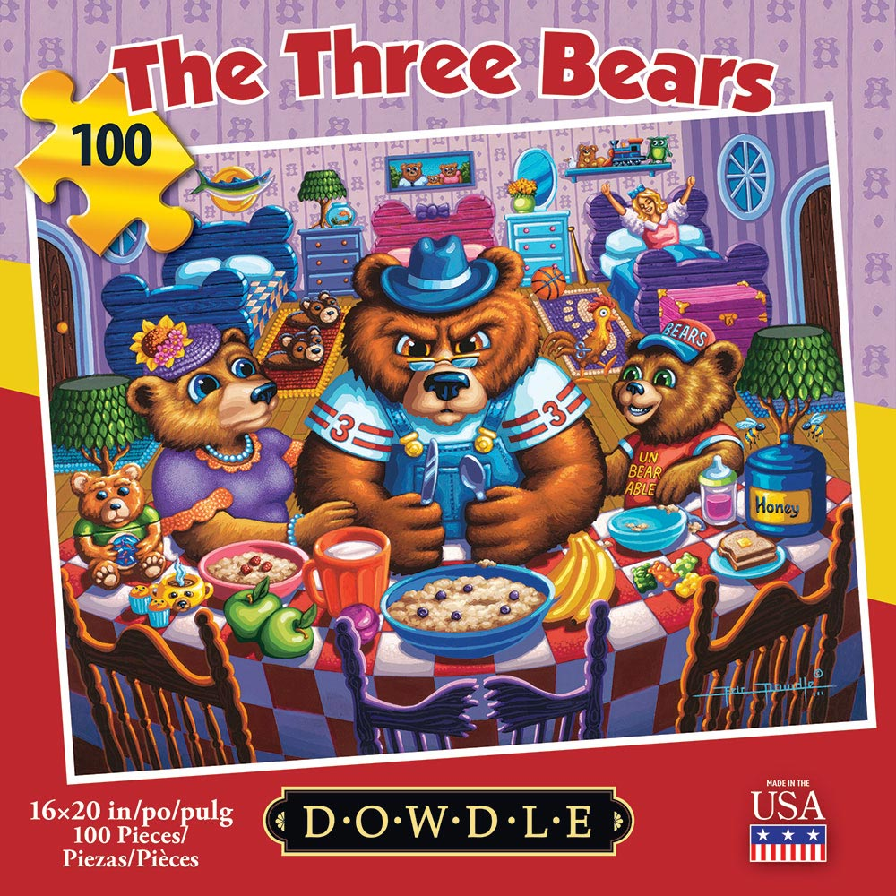 The Three Bears Americana & Folk Art Jigsaw Puzzle