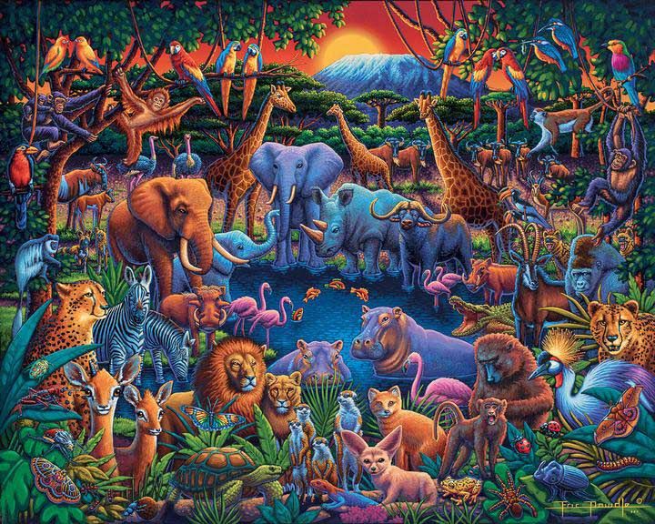 Wild Africa Jungle Animals Jigsaw Puzzle